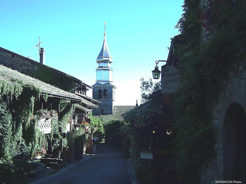 Rue et église d'YVOIRE(74)
