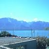 Lac LEMAN - Premiers sommets des Alpes dominant le lac