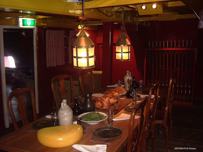 AMSTERDAM - Intérieur du navire, salle à manger officiers