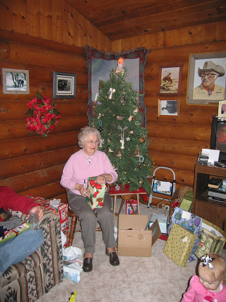 Grandma Bonnie and the chair of honor