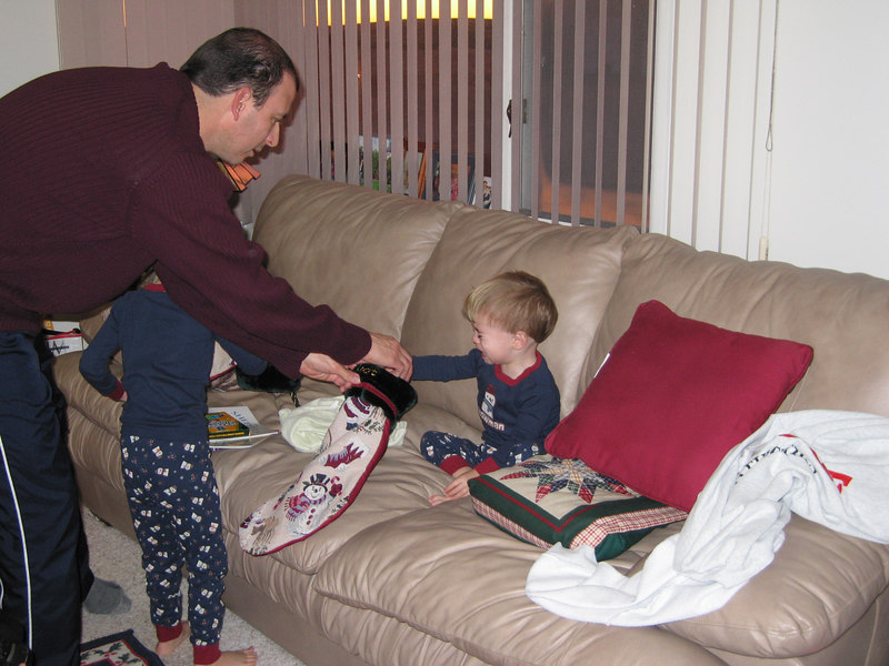 Didn't take long before a stocking incident occurred