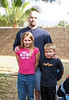 Dee's son Louie poses with daughter, Jordan, and son, Jacob.