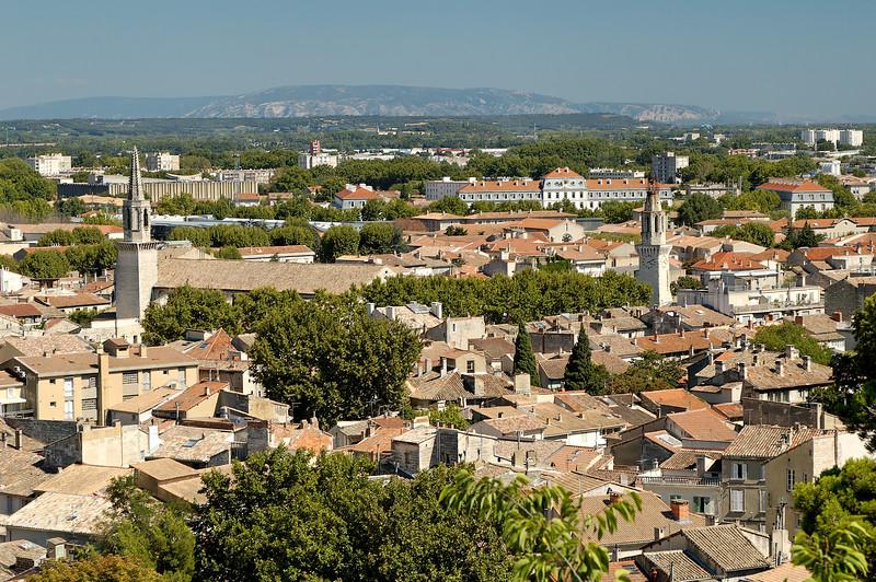 Avignon vue depuis le sommet du rocher des doms