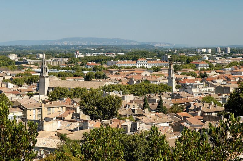 Avignon vu depuis le sommet du rocher des doms
