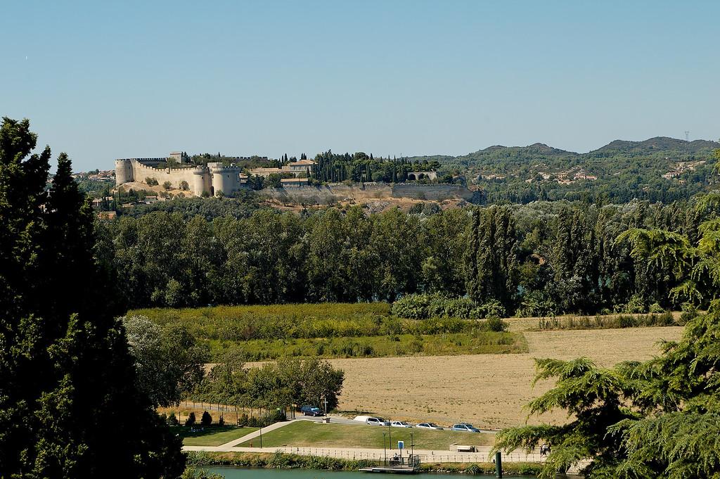Fort Saint André vu depuis le rocher des doms
