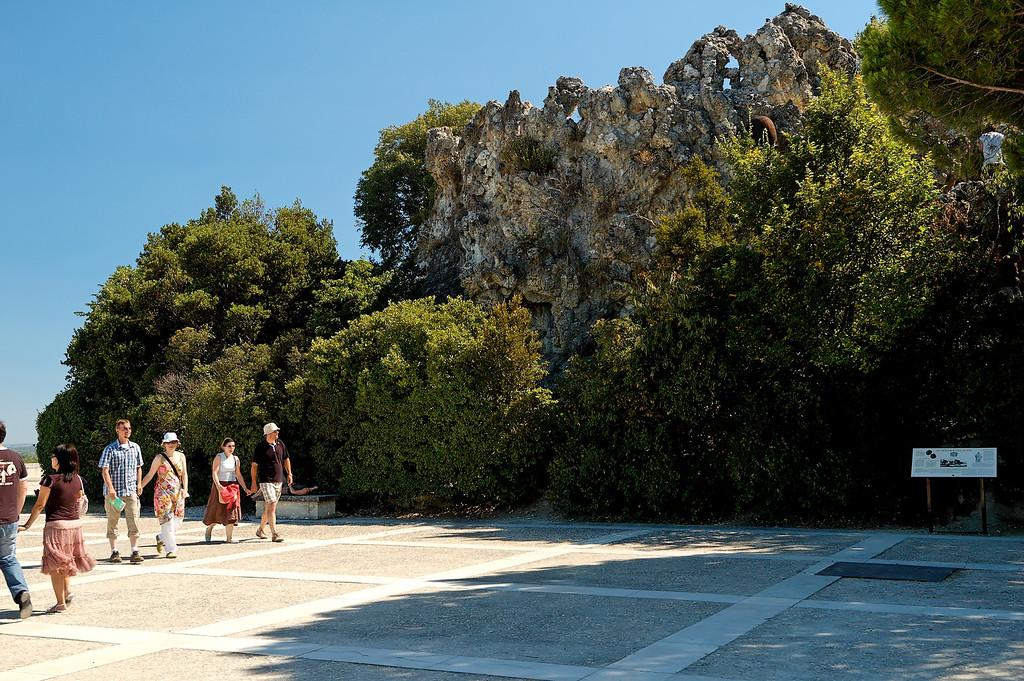 La terrasse du rocher des doms