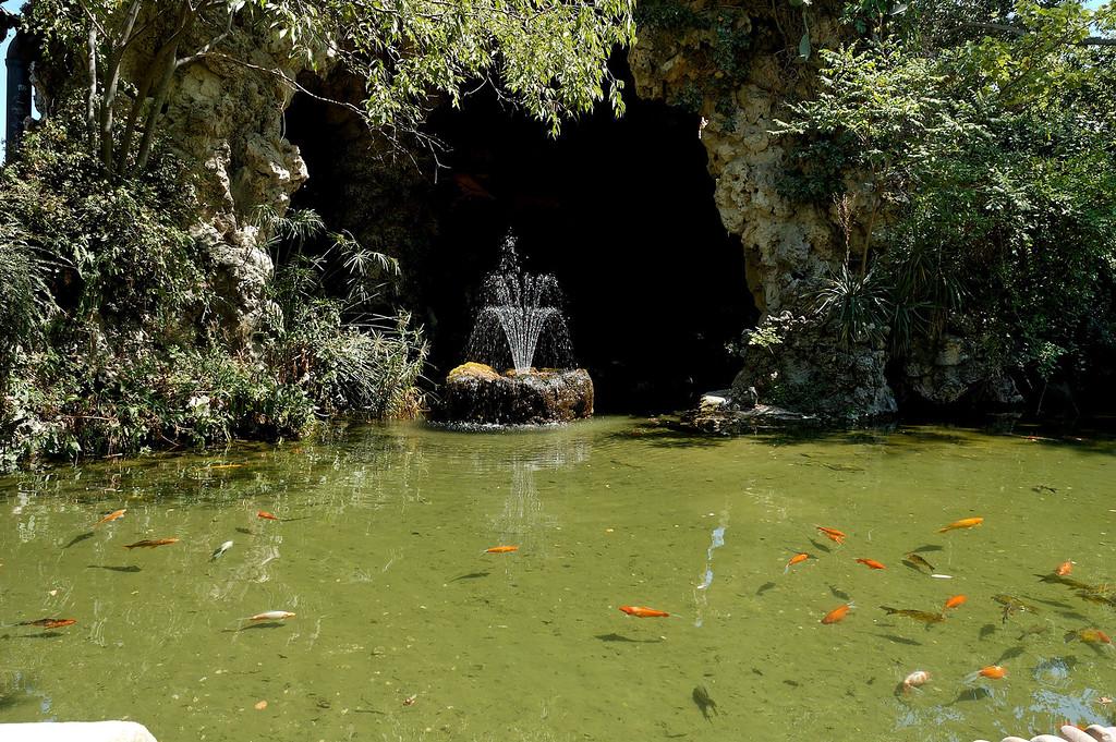 Fontaine dans le parc du rocher des doms