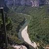 Méandres de l'Ardèche depuis point de vue panoramique sur la D 290