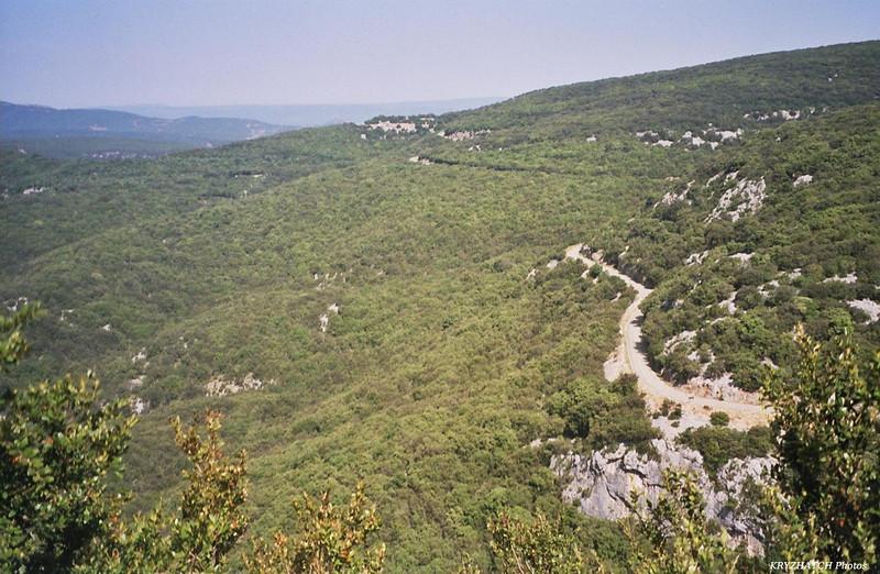 D 290 au dessus de l'Ardèche