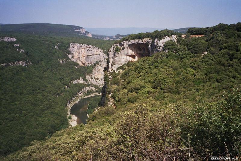 Paroi veticale sur l'Ardèche