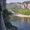 Corniche sur les bords de l'Ardèche