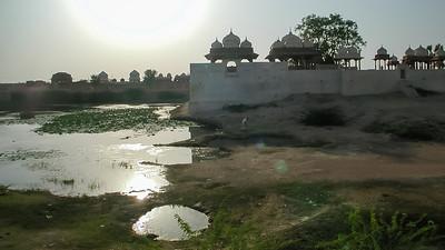 Davi Kund de marmeren graftomben van de prinsen van Bikaner