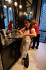 jayne and mom, busy in the kitchen, while the rest of us play . . . though jayne looks like she's having some fun with the stuffing here!