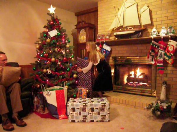 Cassandra opening her gift