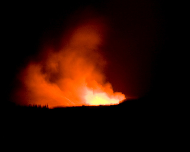 The county kept us at least a quarter mile from the lava flows. We drove several hours to see this off in the distance.