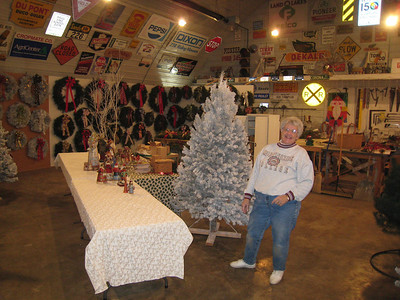 Marie's sister Janice helped several days setting up, and was still smiling!!