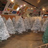 The finished products in the barn.  We turn up the heat and run ceiling fans to dry the trees.