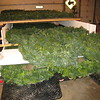 We keep our green wreaths on a trailer 3 deep, then keep it in the cold machine shed