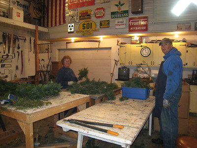 Making wreaths