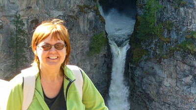 Spahats Falls in het Wells Gray NP