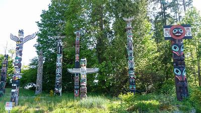 Totem palen Stanley Park Vancouver
