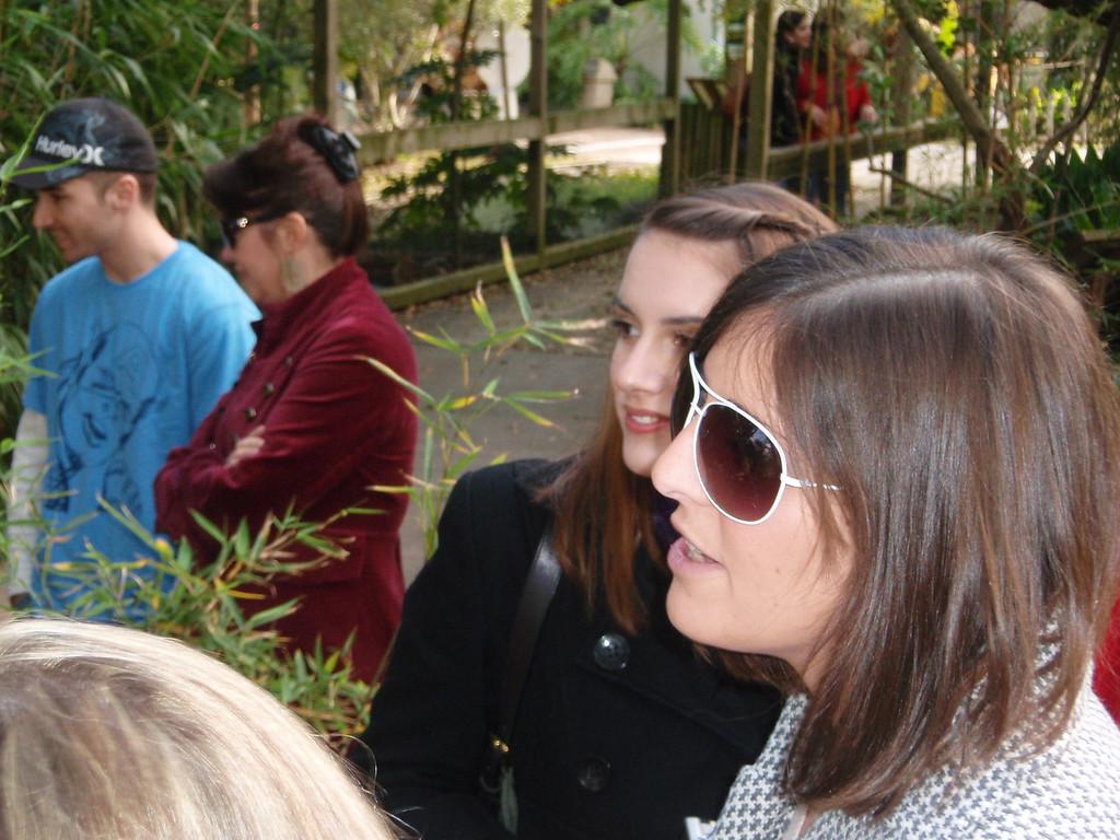 Amy looking posh at the Alexandria Zoo.