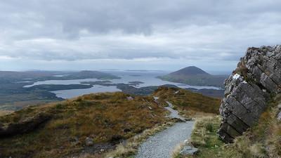 Wandeling naar Dimond Hill in het Connemara NP