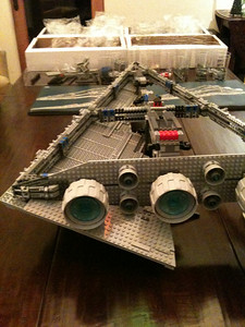 2009 Imperial Star Destroyer Project, skeleton completed, 1 of 4 surface skins completed. We just finished page 36 of 226.