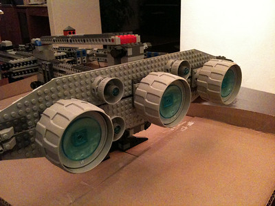 2009 Imperial Star Destroyer Project, main thrusters.