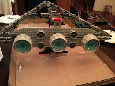 2009 Imperial Star Destroyer Project, main thrusters and directional jets.