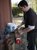 """Erik works on luminaria - that's Latin as in """"lumin"""" meaning light and """"aria"""" meaning brown paper bag."""