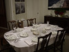 Dining room table awaiting food.