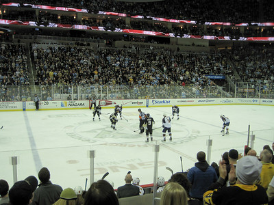 Pretty awesome seats for the Pens