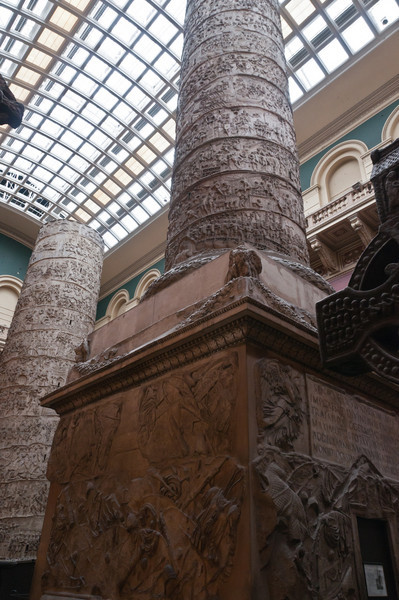 """Plaster cast of the trajan column. The original is in Rome, see <a href=""""http://souslenuage.smugmug.com/Holidays/Italie-2009/Rome/9743803_jFdP7#659837711_dDgQ3"""">here</a> and <a href=""""http://souslenuage.smugmug.com/Holidays/Italie-2009/Rome/9743803_jFdP7#659857780_yH5SM"""">here</a>for a better look at the original in Rome.   Victoria and Albert Museum, London, England."""