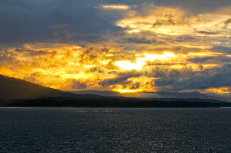 Sunset somewhere between Juneau and Sitka