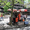 Japadog stand in Vancouver. Said to be very yummy, but I wasn't game to try.