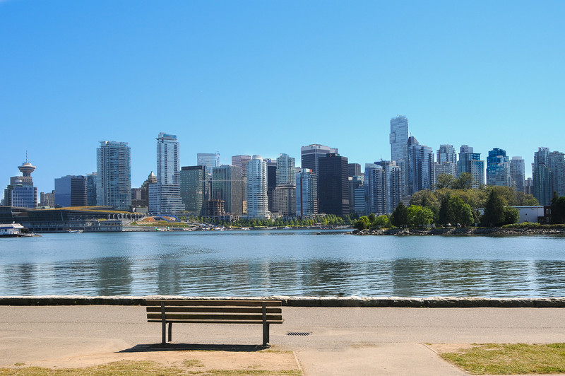 Looking to downtown Vancouver from Stanley Park.