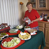 Our first Christmas celebration of  2010 was at Mom's home on the Sunday before Christmas.  We celebrated the newly published Family Cookbook.