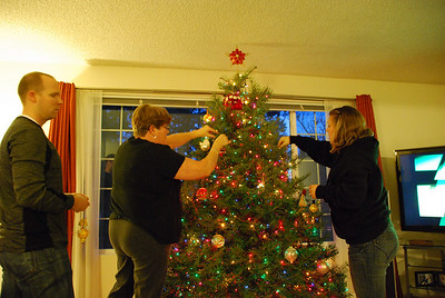 2010, November 29th:  Decorating the Christmas Tree with Family