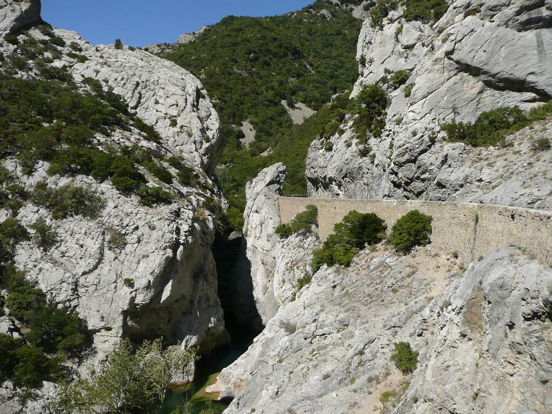 Route Départementale 7 (D7) dans les gorges de GALAMUS