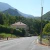 Chateau de PUILAURENS depuis Route Départementale  117 (D 117) à l'entrée de LAPRADELLE (66)