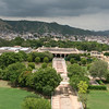 View from the Jaipur king's palace (right outside his bedroom) of Govind Devji Mandir.