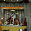 Arati at the beautiful Govind devji temple. This shaken photo does not do justice to the beauty of these deities