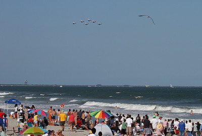 October 31st, 2010: Cocoa Beach, Florida Space Shuttle, Thunderbirds, seagull, beach, sun and fun, what else do you want?