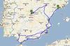 Nase cesta - zbyva jeste kousek do Barcelony na letiste ...