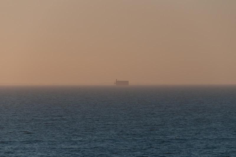 Fort boyard, vu depuis les alentours de la rochelle.