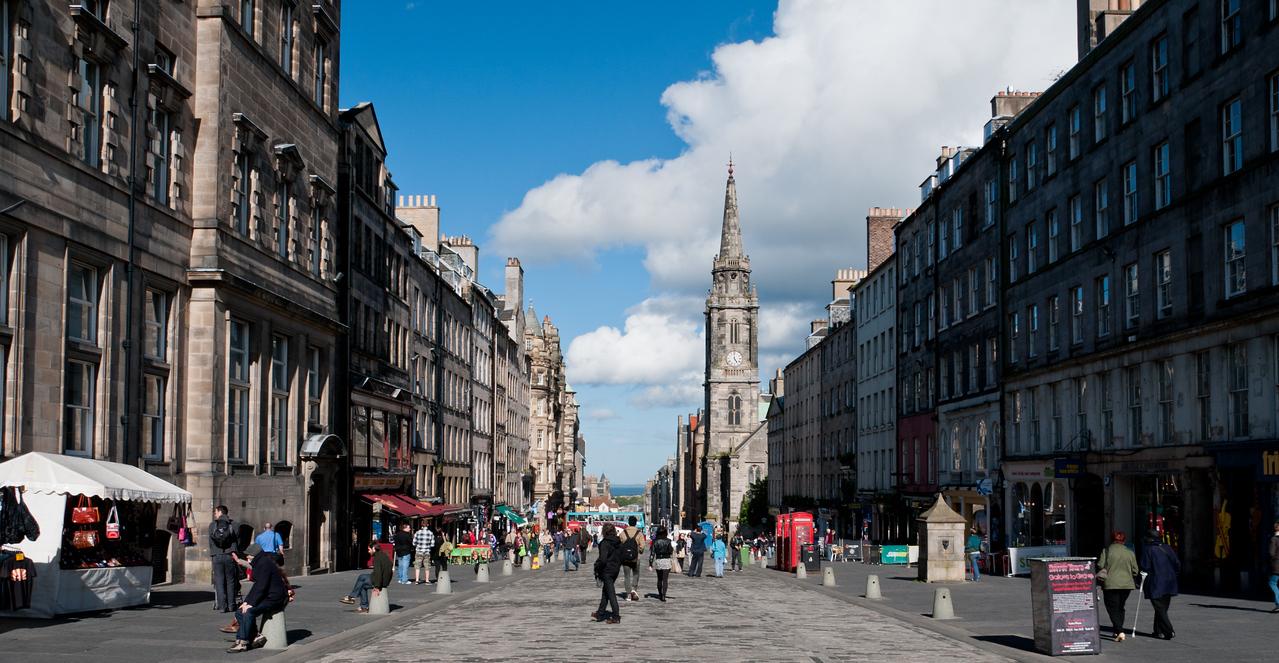 High Street Edinburgh, Scotland.