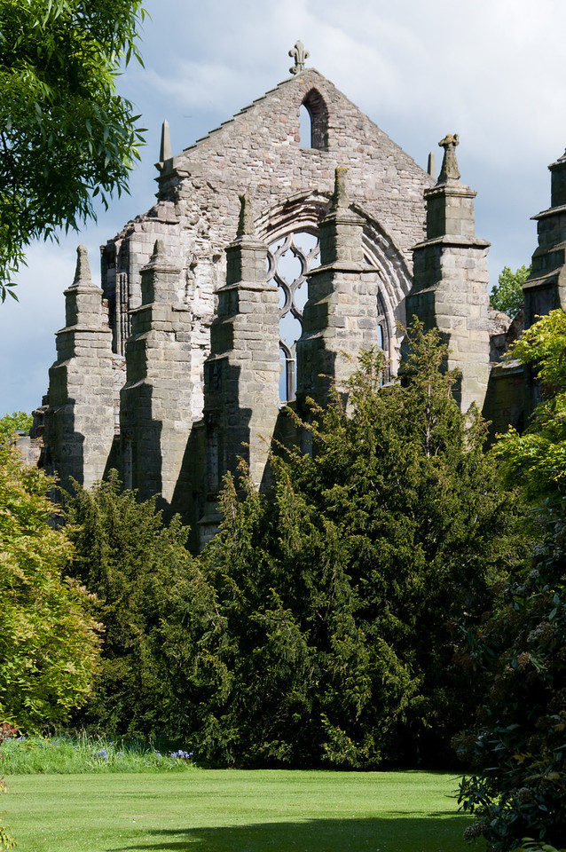 ruins of the Holyrood abbey. Edinburgh Scotland.