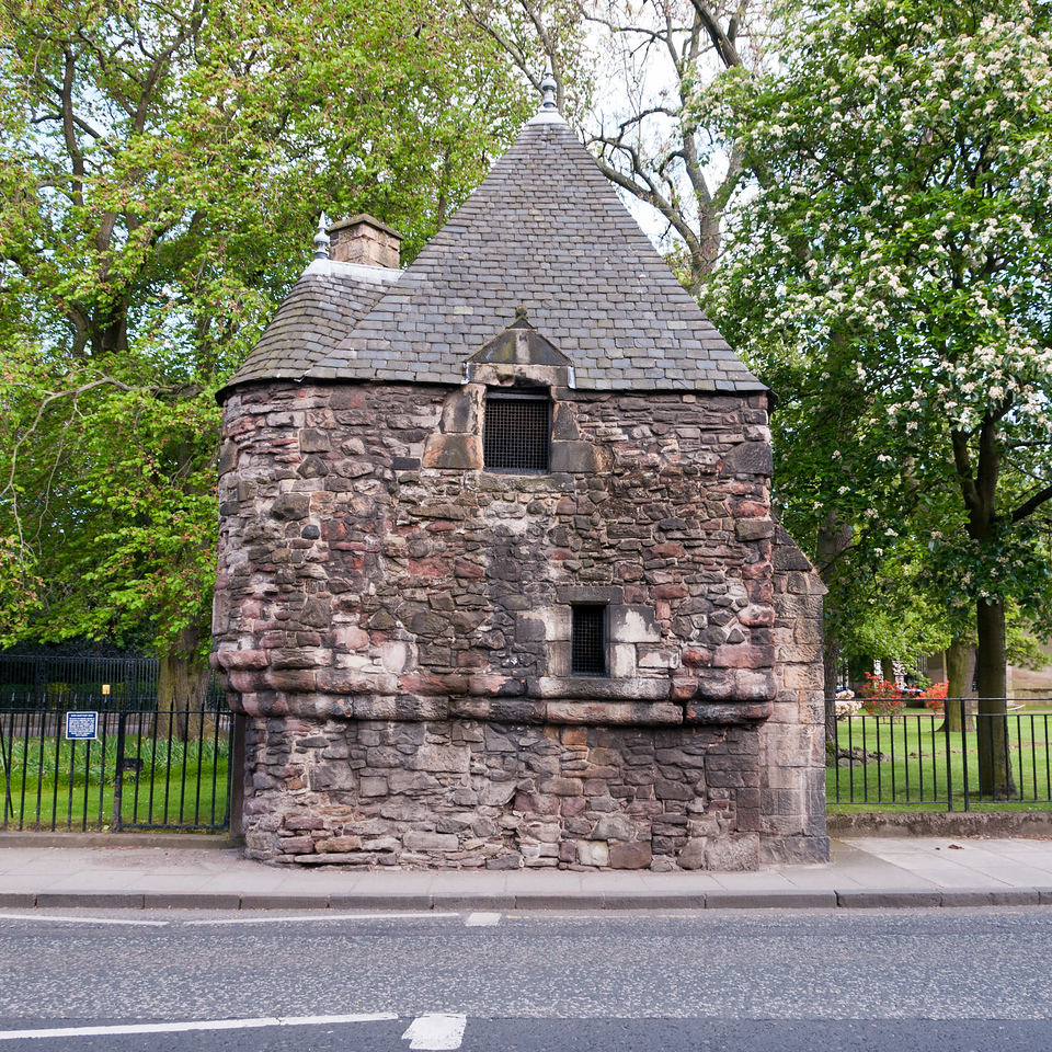 This small building is traditionally associated with mary queen of scots. It initially served as a pavillion or summer house where the royal family might relax while strolling in the garden. Wether it ever contained a bath is unknown. Edinburgh Scotland.