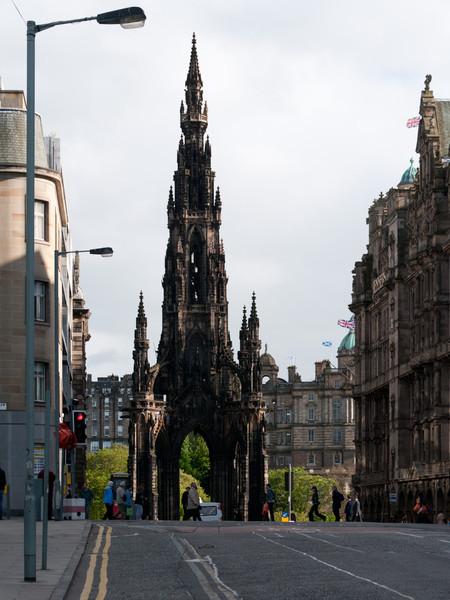 Scott's monument. Edinburgh Scotland.